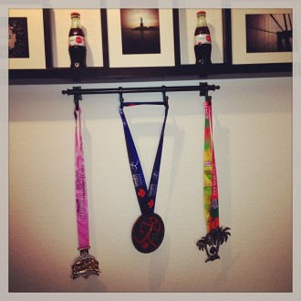 October 2013 medal rack