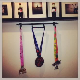 October 2013 medal rack
